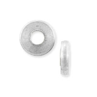 Flat Washer Bead 9x2.5mm Bright Silver Finish (5-Pcs)