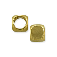 Rounded Cube 4.5mm Gold Plated (4-Pcs)