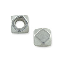 Cornerless Cube Bead 4.5mm Nickel Silver (10-Pcs)