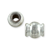 Hourglass Bead 7x6mm Nickel Silver (10-Pcs)