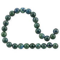 Azurite Malachite Round Beads 6mm (15