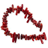 Red Coral Chips Red 8-12mm (15