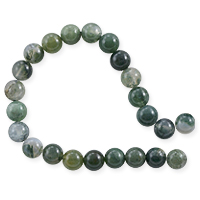 Moss Agate Round Beads 6mm (15