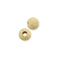 Round Stardust Bead 3mm Gold Filled (1-Pc)