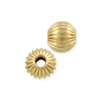 Round Corrugated Bead 5mm Gold Filled (1-Pc)