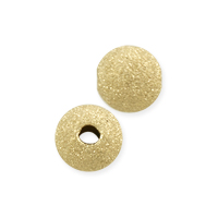 Round Stardust Bead 5mm Gold Filled (1-Pc)