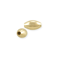 Oval Bead 5x3mm Gold Filled (1-Pc)