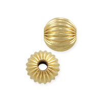 Round Corrugated Bead 6mm Gold Filled (1-Pc)
