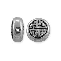 TierraCast Celtic Circle Bead 10x10.25mm Pewter Antique Silver (1-Pc)