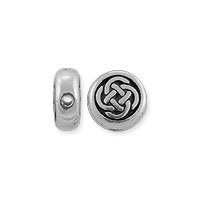 TierraCast Small Celtic Circle Bead 7x3mm Pewter Antique Silver Plated (1-Pc)