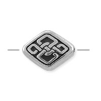 TierraCast Celtic Diamond Bead 11x8.5mm Pewter Antique Silver (1-Pc)