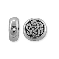 TierraCast Celtic Circle Triad Bead 9.5x9.75mm Pewter Antique Silver (1-Pc)