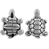 TierraCast 15x12mm Pewter Turtle Bead  (1-Pc)