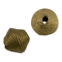 Ghana Baule Bicone Bead 11-12mm Brass/Copper (1-Pc)