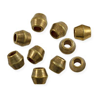 Bicone Beads 4mm Brass (10-Pcs)