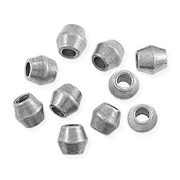 Bicone Beads 4mm Bright Nickel Silver (10-Pcs)