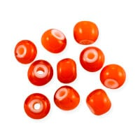 French White Heart Bead 5.5mm Orange (10-Pcs)