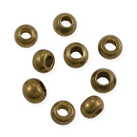 Rondelle Heishi 4x3mm Brass (10-Pcs)