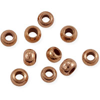 Rondelle Heishi 4x3mm Bright Copper (10-Pcs)