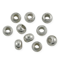 Rondelle Heishi 4x3mm Bright Nickel Silver (10-Pcs)