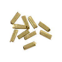 Heishi Rectangle Beads 3-6x2mm Brass (10-Pcs)