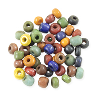 Maasai Multicolor 4mm Glass Beads (50-Pcs)