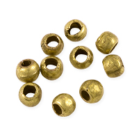 Round Beads 5mm Brass (10-Pcs)