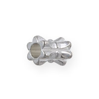 Fancy Dogbone Bead 4x5mm Silver Plated (10-Pcs)