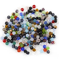 Crystal Bead Assortment 4mm Assorted Shapes (Approx. 280 Pcs)