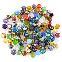 Crystal Bead Assortment 6mm Assorted Shapes (Approx. 120 Pcs)