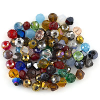 Crystal Bead Assortment 8mm Assorted Shapes (Approx. 85 Pcs)