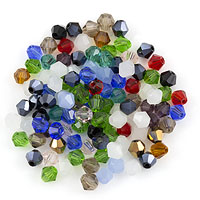 Crystal Bicone Bead Assortment 4mm (Approx. 110 Pcs)