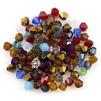 Crystal Bicone Bead Assortment 6mm (Approx. 100 Pcs)