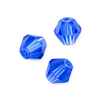 Faceted Bicone 6mm Sapphire Crystal Beads (11