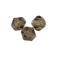Faceted Bicone 4mm Smoky Quartz Crystal Beads (16