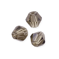 Faceted Bicone 6mm Smoky Quartz Crystal Beads (11