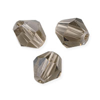 Faceted Bicone 8mm Smoky Quartz Crystal Beads (12