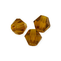 Faceted Bicone 4mm Topaz Crystal Beads (16