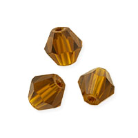 Faceted Bicone 6mm Topaz Crystal Beads (11