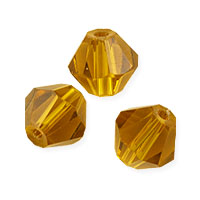 Faceted Bicone 8mm Topaz Crystal Beads (12