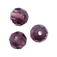Faceted Round 6mm Amethyst Crystal Beads (14