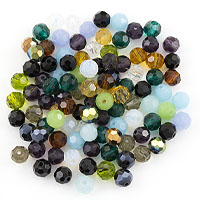 Crystal Round Bead Assortment 6mm (Approx. 100 Pcs)