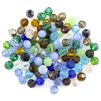 Crystal Round Bead Assortment 8mm (Approx. 55 Pcs)