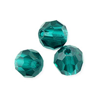Faceted Round 6mm Blue Zircon Crystal Beads (14