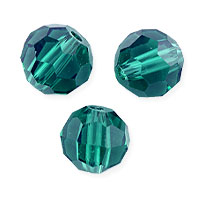 Faceted Round 8mm Blue Zircon Crystal Beads (14