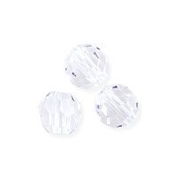Faceted Round 4mm Crystal Beads (14