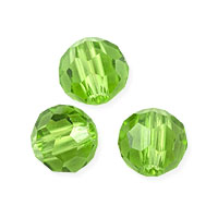 Faceted Round 6mm Emerald Crystal Beads (14