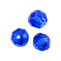 Faceted Round 6mm Sapphire Crystal Beads (14
