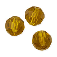 Faceted Round 8mm Topaz Crystal Beads (20