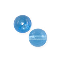 Czech Pressed Glass Round Beads 4mm Aqua (10-Pcs)